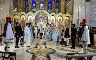 Φωτογραφία από τη Θεία Λειτουργία και Δοξολογία που έγινε το 2016 για την εθνική επέτειο στον Αρχιεπισκοπικό Καθεδρικό Ναό της Αγίας Τριάδας στο Μανχάτταν