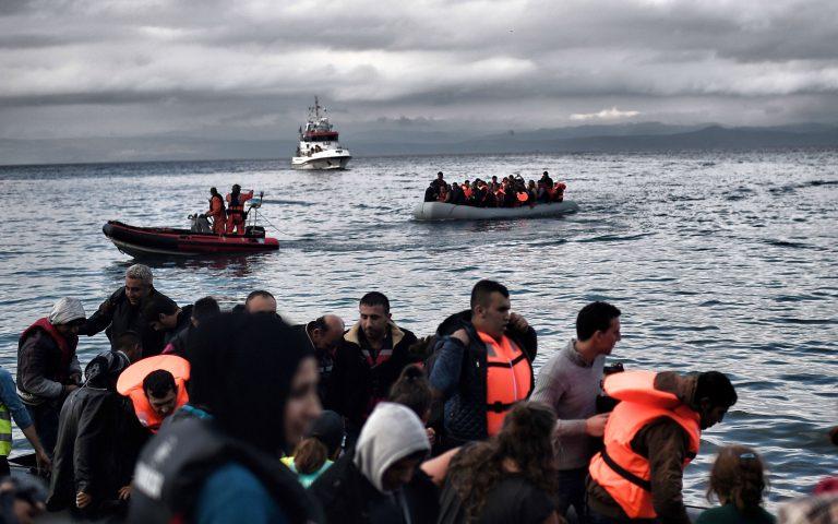 Νέες αφίξεις προσφύγων στη Λέσβο