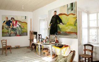 Η σάλα που είχε μετατραπεί σε ατελιέ έχει πολλά πορτρέτα των φίλων του καλλιτέχνη. Αντικείμενα και έργα έχουν ήδη καταγραφεί.