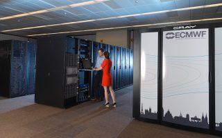 Ο υπερυπολογιστής του ECMWF δέχεται 300 TB δεδομένων ημερησίως. Ο αποθηκευτικός του χώρος (200 PΒ) αυξάνεται κατά ένα PB την εβδομάδα.