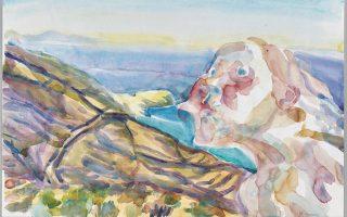 «Aeolus erzurnt». Εργο της Αυστριακής εικαστικού Maria Lassnig.