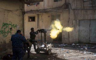 Καθημερινό φαινόμενο είναι πλέον οι μάχες στη Μοσούλη.