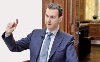 Ο Σύρος πρόεδρος Μπασάρ Ασαντ, στη διάρκεια συνέντευξης που παραχώρησε πρόσφατα σε κροατική εφημερίδα.