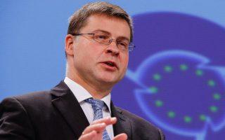 «Αισιοδοξώ ότι θα επιτευχθεί σύντομα» τονίζει ο αντιπρόεδρος της Ε.Ε. Βλάντις Ντομπρόβσκις.