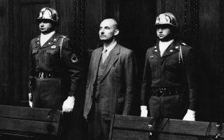 Η τελευταία ημέρα της δίκης της Νυρεμβέργης, το 1949. 21 ακόμα Γερμανοί στρατιωτικοί καταδικάστηκαν για εγκλήματα πολέμου. (AP Photo/Riethausen)