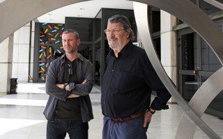 Ο Ρος Μπίρελ και ο Ντέιβιντ Χάρντινγκ, στο Μέγαρο Μουσικής Αθηνών.