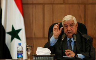 Ο υπουργός Εξωτερικών της Συρίας, Ουάλιντ Αλ-Μουάλεμ