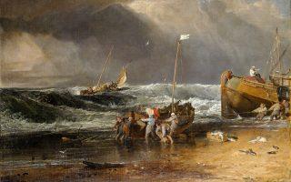 «Σκηνή στην ακτή», του Ουίλιαμ Τέρνερ. Το ναυάγιο, ως «παράδειγμα μιας μεταφοράς της ύπαρξης», προσεγγίζει στο βιβλίο του ο Χανς Μπλούμενμπεργκ.