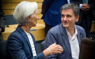 Ο Ελληνας υπουργός Οικονομικών, Ευκλείδης Τσακαλώτος, είχε ένα βαρύ πρόγραμμα συναντήσεων στην έδρα του ΔΝΤ που ξεκίνησε με την επικεφαλής του Ταμείου κ. Κριστίν Λαγκάρντ.