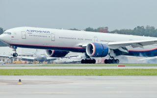 Boeing 777 της Aeroflot, παρόμοιο με αυτό που έπεσε σε αναταράξεις λίγο πριν από την προσγείωσή του στην Μπανγκόκ της Ταϊλάνδης.