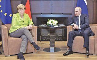 Φανερή ήταν στα πρόσωπα της Αγκελα Μέρκελ και του Βλαντιμίρ Πούτιν η ένταση στις σχέσεις Γερμανίας - Ρωσίας, μετά τη συνάντηση που είχαν οι δύο ηγέτες στο Σότσι της Ρωσίας. Η κ. Μέρκελ απηύθυνε έκκληση στον Ρώσο ομόλογό της να δώσει τέλος στην παραβίαση των ανθρωπίνων δικαιωμάτων στη Ρωσία, με τον κ. Πούτιν να υπεραμύνεται των μεθόδων της ρωσικής αστυνομίας.