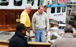 O Κγιέλ Ινγκε Ρέκε με τον πρώην πρόεδρο των Ηνωμένων Πολιτειών Μπιλ Κλίντον το 2007.