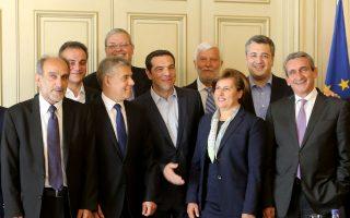Με τους 13 περιφερειάρχες της χώρας συναντήθηκε χθες ο πρωθυπουργός Αλ. Τσίπρας, στο Μέγαρο Μαξίμου.