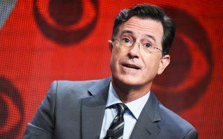 Εντονες οι αντιδράσεις εναντίον του παρουσιαστή της εκπομπής The Late Show, Στίβεν Κολμπέρ.