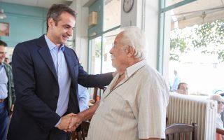 «Θέλω τα παιδιά σας να βρουν δουλειά. Θέλω εσείς να έχετε μια αξιοπρεπή σύνταξη», είπε ο Κυρ. Μητσοτάκης σε συνταξιούχους στην Καλλιθέα.