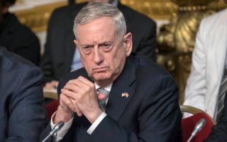 Ο Αμερικανός υπουργός Αμυνας Τζέιμς Μάτις παρακολουθεί σύνοδο για τη Σομαλία. Στο περιθώριο, συνάντησε τον Τούρκο πρωθυπουργό.
