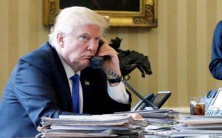 Φωτογραφία αρχείου από τον Λευκό Οίκο με τον Αμερικανό πρόεδρο, Ντόναλντ Τραμπ, ο οποίος χθες έκανε λόγο για «κυνήγι μαγισσών».