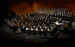 Η Φιλαρμονική Ορχήστρα της Βιέννης σε ειδική συναυλία, κατά το πρόσφατο πασχαλινό φεστιβάλ του Ζάλτσμπουργκ.