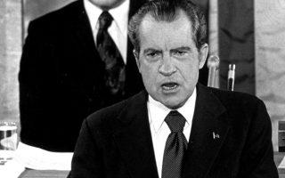 Ο πρόεδρος Νίξον, κατά τη διάρκεια της ομιλίας του προς το έθνος, τον Ιανουάριο του 1974.