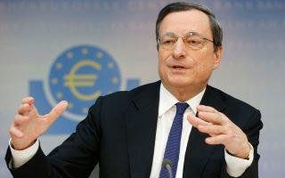 O Μάριο Ντράγκι έχει διαμηνύσει ότι δεν θέλει να φανεί πως παίρνει αποφάσεις υπό πίεση για την ένταξη της Ελλάδος στο QE.