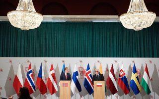 Οι υπουργοί Εξωτερικών της Πολωνίας και της Νορβηγίας στο Σοπότ.