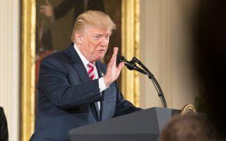 Ο Αμερικανός πρόεδρος Ντόναλντ Τραμπ σε ομιλία του στην Ουάσιγκτον.