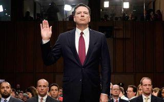 Για ψευδολογία κατηγόρησε τον Ντόναλντ Τραμπ ο πρώην διευθυντής του FBI Τζέιμς Κόουμι στην κατάθεσή του σε επιτροπή του Κογκρέσου. Απέφυγε, ωστόσο, να κατηγορήσει ευθέως τον Αμερικανό πρόεδρο για παρεμπόδιση της Δικαιοσύνης, ενώ κατέστησε σαφές ότι ο ίδιος ο Τραμπ δεν αποτέλεσε αντικείμενο ερευνών.