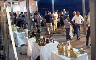 Εκθεση των οκτώ προϊόντων, το βράδυ της περασμένης Τετάρτης, στα Θέρμα του Κόλπου Γέρας της Λέσβου.