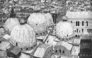 Βενετία. Χαρακτικό της Φεντερίκα Γκάλι από την έκθεση στην Κέρκυρα.