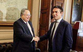 Ο υπουργός Εξωτερικών της ΠΓΔΜ Ν. Ντιμιτρόφ, κατά τη χθεσινή συνάντηση με τον Ελληνα ομόλογό του Ν. Κοτζιά, απέφυγε να λάβει σαφή θέση για τις εκδηλώσεις αλυτρωτισμού στη χώρα του.