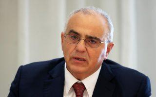 Ο πρόεδρος της Ελληνικής Ένωσης Τραπεζών , κ. Νικόλαος Καραμούζης.