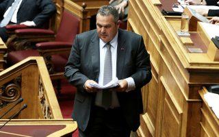 «Τραγική» χαρακτηρίζει η Ν.Δ. σε ανακοίνωσή της την παρουσία του ΥΠΕΘΑ Π. Καμμένου στη Βουλή.