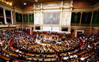 Η νέα γαλλική Εθνοσυνέλευση στην πρώτη της πανηγυρική ολομέλεια την Τρίτη.