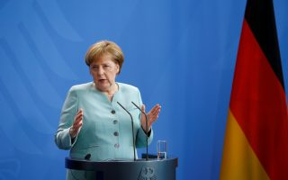 German Chancellor Angela Merkel attends a news conference following talks with President of Azerbaijan Ilham Aliyev at the Chancellery in Berlin, Germany, June 7, 2016. REUTERS/Axel Schmidt