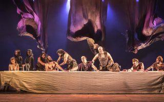 Σκηνή από την παράσταση «Salomé» του Εθνικού Θεάτρου της Αγγλίας.