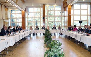 Ο χώρος της διάσκεψης στο Κραν-Μοντανά της Ελβετίας.