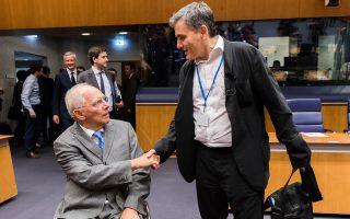Βόλφγκανγκ Σόιμπλε - Ευκλείδης Τσακαλώτος. Η «καθαρότητα», που ήταν το ζητούμενο για τη βιωσιμότητα του χρέους, δεν προέκυψε, παρά μόνον σε κάποιο μικρό βαθμό, από το Eurogroup της περασμένης Πέμπτης.