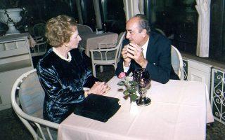 Ο Κωνσταντίνος Μητσοτάκης με τη Mάργκαρετ Θάτσερ στις 25/9/1989 (φωτογραφία: Ιδρυμα Κωνσταντίνος Μητσοτάκης).