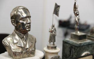 Επάργυρη προτομή του Αδόλφου Χίτλερ που εντοπίστηκε σε κρύπτη κατοικίας εμπόρου τέχνης στην Αργεντινή.
