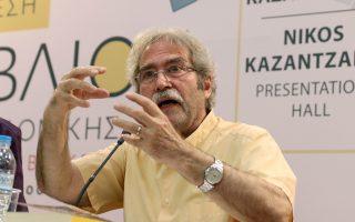 Ο Καταλανός συγγραφέας Ζάουμε Καμπρέ, κατά την πρόσφατη επίσκεψή του στην Εκθεση Βιβλίου της Θεσσαλονίκης.
