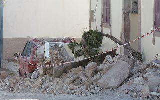 Φωτογραφία από το χωριό Βρίσα που υπέστη τις μεγαλύτερες καταστροφές