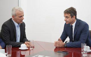 Στιγμιότυπο από τη σημερινή συνάντηση του κ. Μητσοτάκη με την ΠΟΑΣΥ.