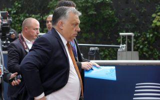 Ο Ούγγρος πρωθυπουργός Βίκτορ Ορμπαν φθάνει στη Σύνοδο Κορυφής στις Βρυξέλλες.