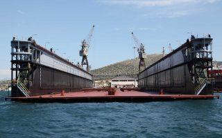 Εκσυγχρονίστηκε η πλωτή δεξαμενή της ναυπηγοεπισκευαστικής ζώνης του ΟΛΠ στο Πέραμα «Πειραιάς I» που θα μπορεί να υποδέχεται μεγάλα πλοία με μεταφορική ικανότητα έως 40.000 τόνων και 202 μέτρων μήκους.
