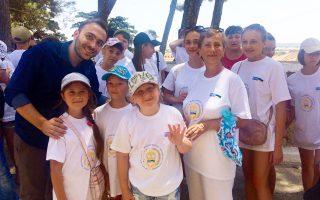 Οι μαθητές από την Ουκρανία ήρθαν στη Λήμνο με πρωτοβουλία του Ιδρύματος Μπούμπουρα, για να διασκεδάσουν και να ξεχαστούν.