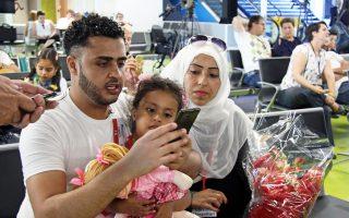 Οικογένεια Σύρων προσφύγων φθάνει από τον Λίβανο στο αεροδρόμιο της Ρώμης μέσω νομίμου «ανθρωπιστικού διαδρόμου».