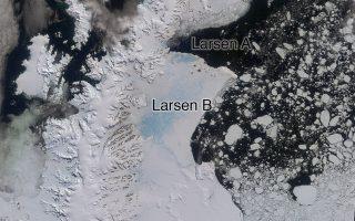 Τεράστιο παγόβουνο αποκολλήθηκε από την παγοκρηπίδα Λάρσεν, δημιουργώντας κινδύνους για τη ναυσιπλοΐα.