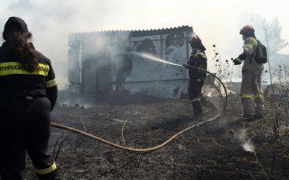 Στην προσπάθεια κατάσβεσης πυρκαγιάς στο Ζευγολατιό Κορίνθου συμμετείχαν 30 πυροσβέστες.