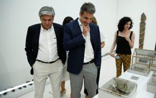 Το Εθνικό Μουσείο Σύγχρονης Τέχνης επισκέφθηκε χθες ο πρόεδρος της Ν.Δ. Κυρ. Μητσοτάκης.
