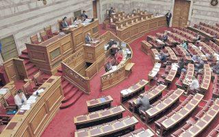 Ενα έντονο φραστικό επεισόδιο μεταξύ των κ.κ. Βαγενά και Ψαριανού ξεχώρισε στην κοινοβουλευτική διαδικασία.